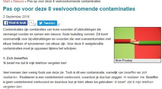contaminaties fouten