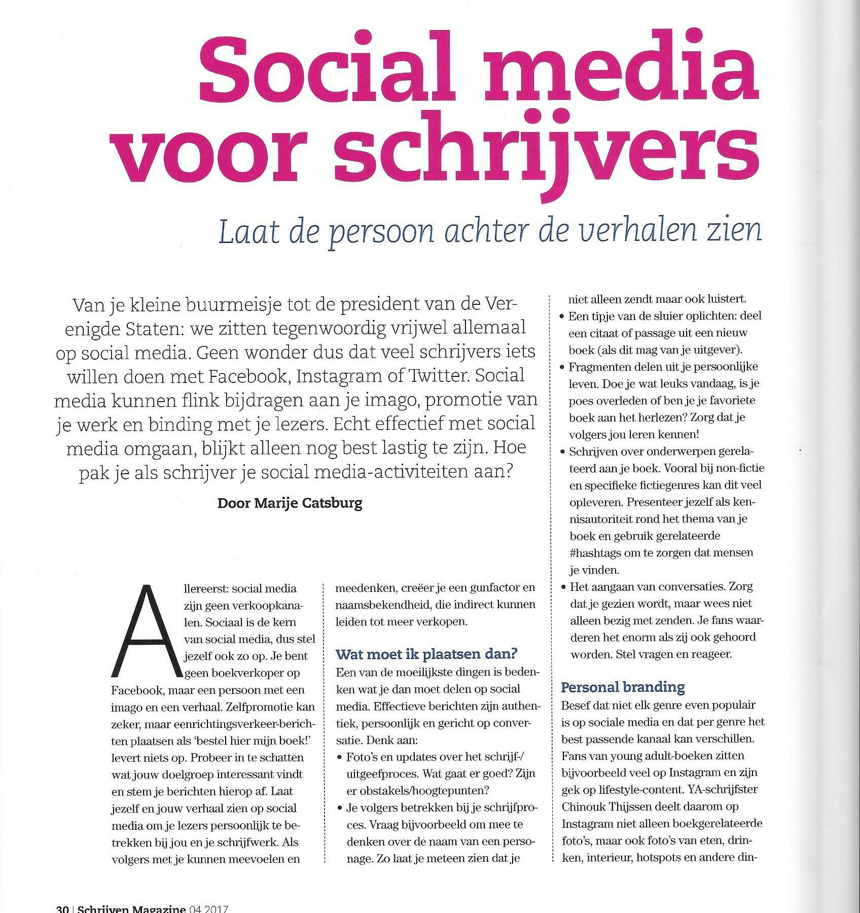 social media marketing schrijver personal branding artikel tekstschrijver