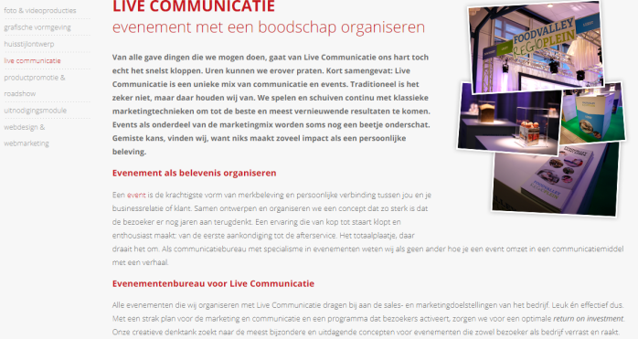 live communicatie tekstschrijver woordkunstenaar ede veenendaal gelderland